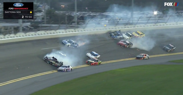 The Big One strikes at the end of the Daytona 500