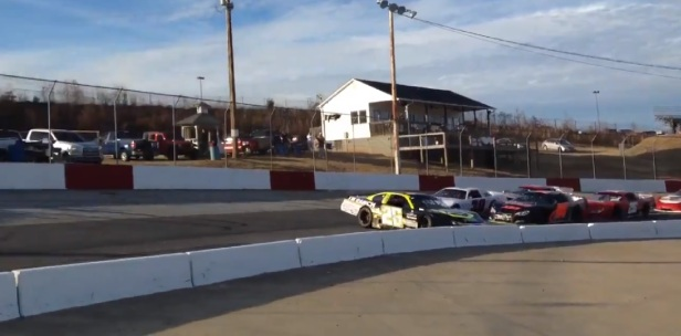 Controversial wreck has one driver already trying to make amends