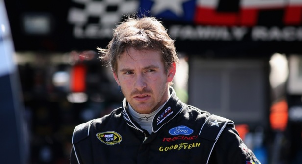 A former NASCAR driver gets suspended for reportedly being a very bad sport