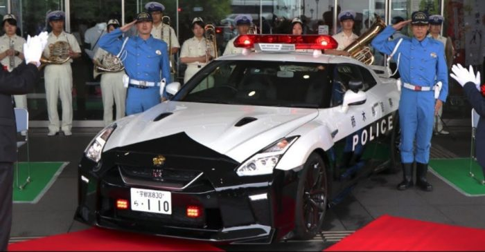 This Sleek Nissan GT-R Was Donated to the Japanese Police Force