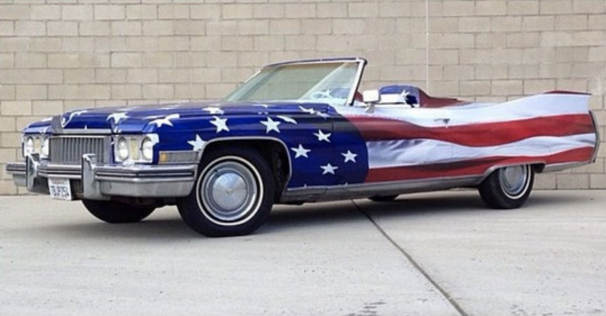 American Flag Paint Job