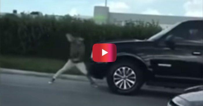 Florida Man Attacks SUV in Bizarre Video