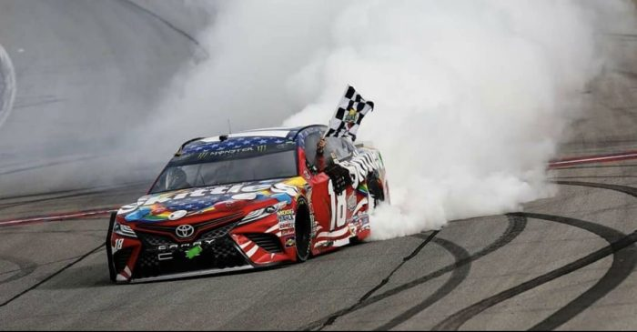 Kyle Busch Wins NASCAR Cup Series Race in Controversial Finish