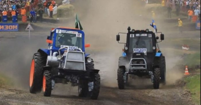 Russian Tractor Racing Is Real and It's Incredible