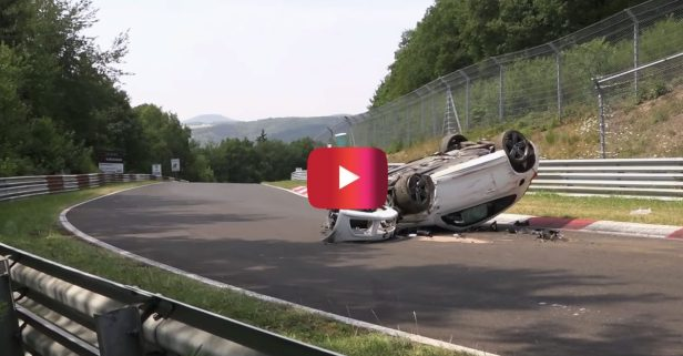 It's a Miracle This VW Scirocco Driver Was OK Following Insane Rollover Crash at Nürburgring