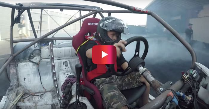 Kid Learns to Drive Stick in Seconds, Does Donuts in UTV