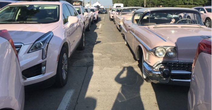 Pink Cadillacs Gather Outside of Aretha Franklin's Funeral in Perfect Tribute to Queen of Soul