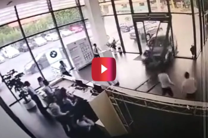 BMW Test Drive Goes South Fast When Driver Crashes Through Dealership