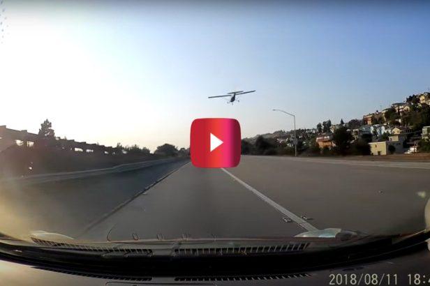 Dashcam Captures Crazy Emergency Plane Landing on California Highway