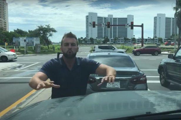 Florida Man Hocks a Loogie on Driver's Windshield