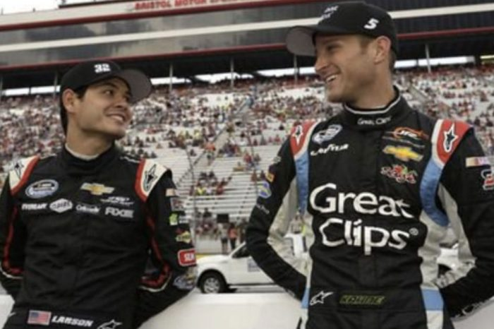 """Kyle Larson Says That He Was """"Caught off Guard"""" by Kasey Kahne's Retirement Announcement"""