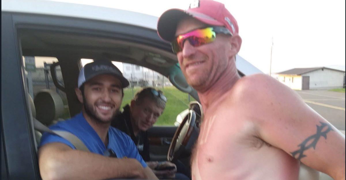 Man Gets NASCAR Drivers Sunburned on Body