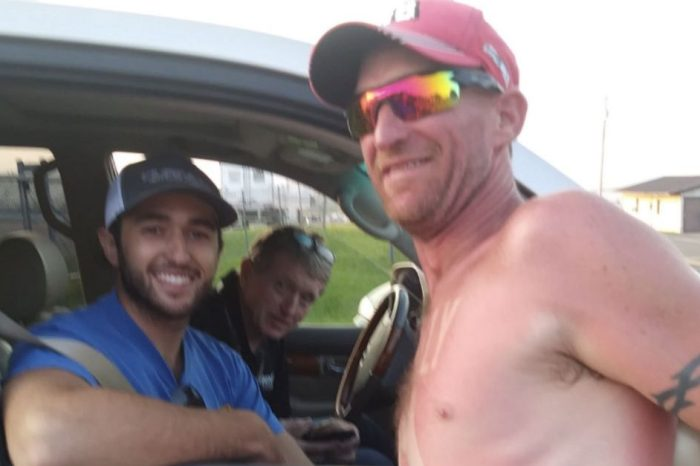 This Guy Who Sunburns His Favorite Drivers on His Body Is the Ultimate NASCAR Fan