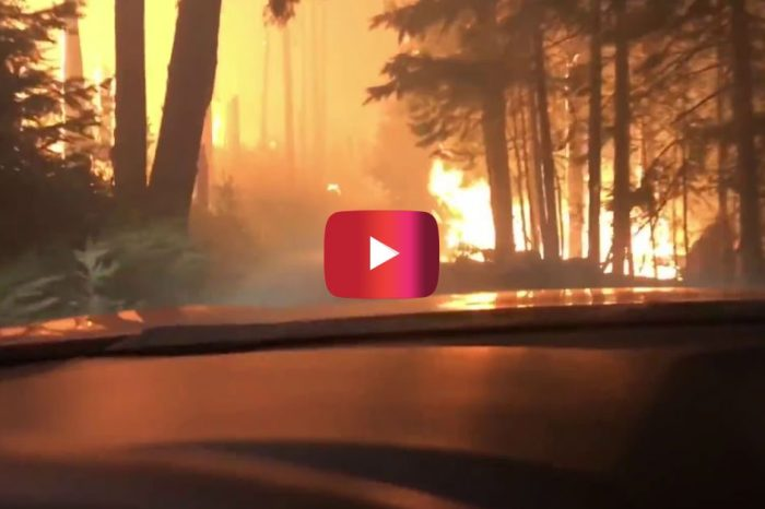 Father and Son Drive Through Montana Wildfire in Shocking Video