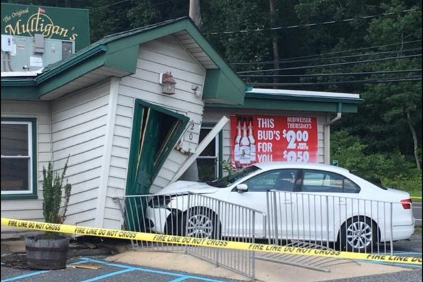 Restaurant Stays Open Even After a Car Smashes Into the Entrance