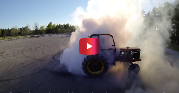 Turbo Tractor Drifts up a Storm