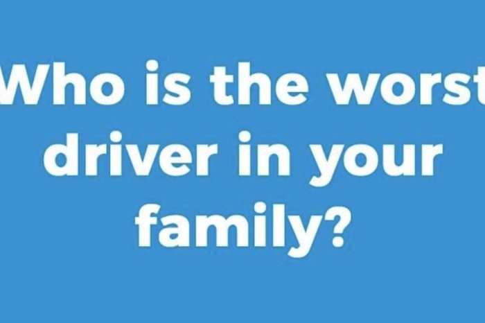 Who Is the Worst Driver in Your Family?