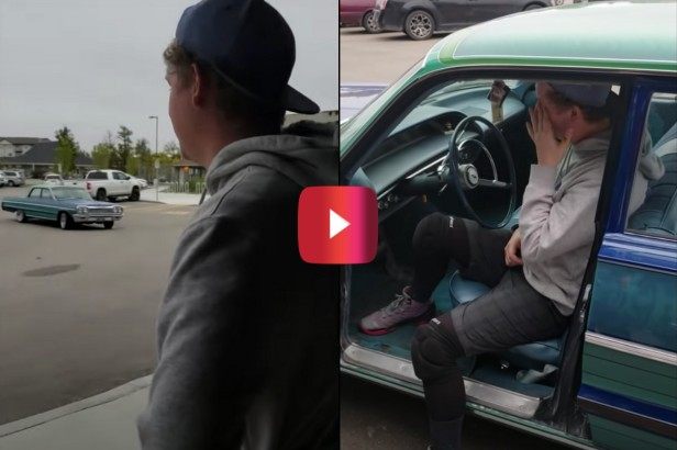 Touching Video Shows Man Surprise Brother With His First Car, a 1964 Chevy Bel Air