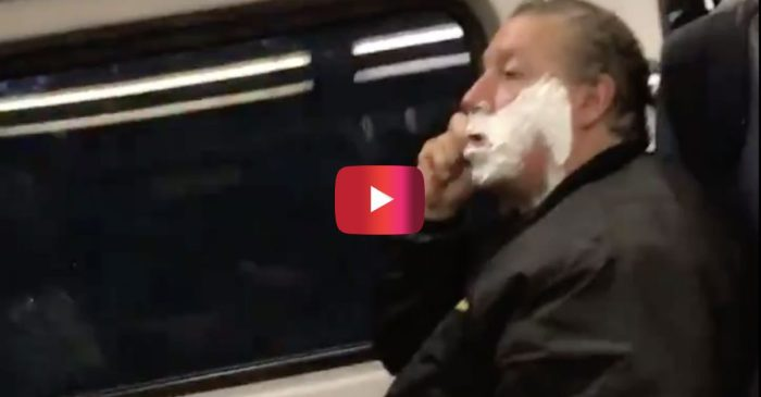 Loose Cannon Commuter Caught Shaving on New Jersey Train