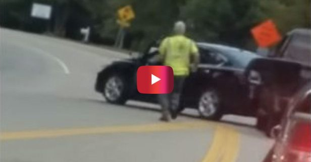 This Guy Was JACKED UP to See a Crazy Road Rage Confrontation