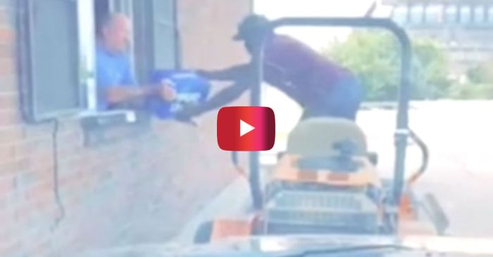 Man Riding Lawn Mower Through Drive-thru Liquor Store Is an American Hero