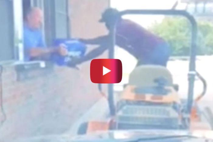 Man Riding Lawn Mower Through Drive-thru Liquor Store Is an American Hero