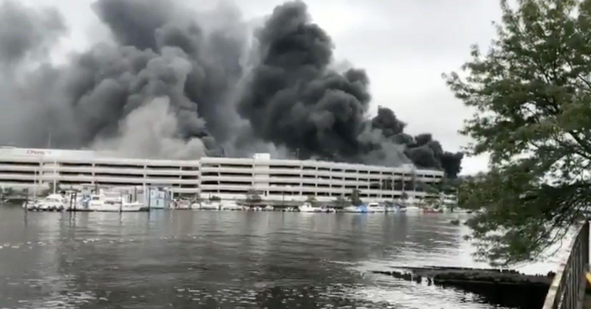Mercedes Benz fire