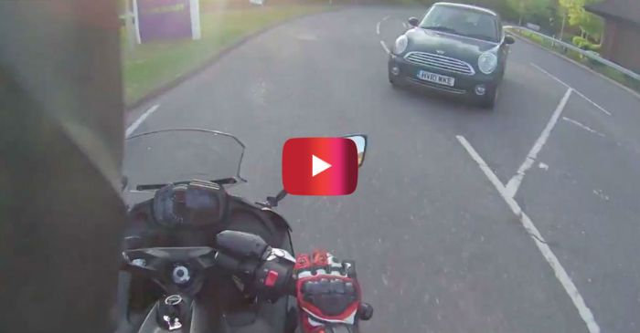 This Biker Absolutely BLEW UP on a Driver After She Almost Sideswiped Him