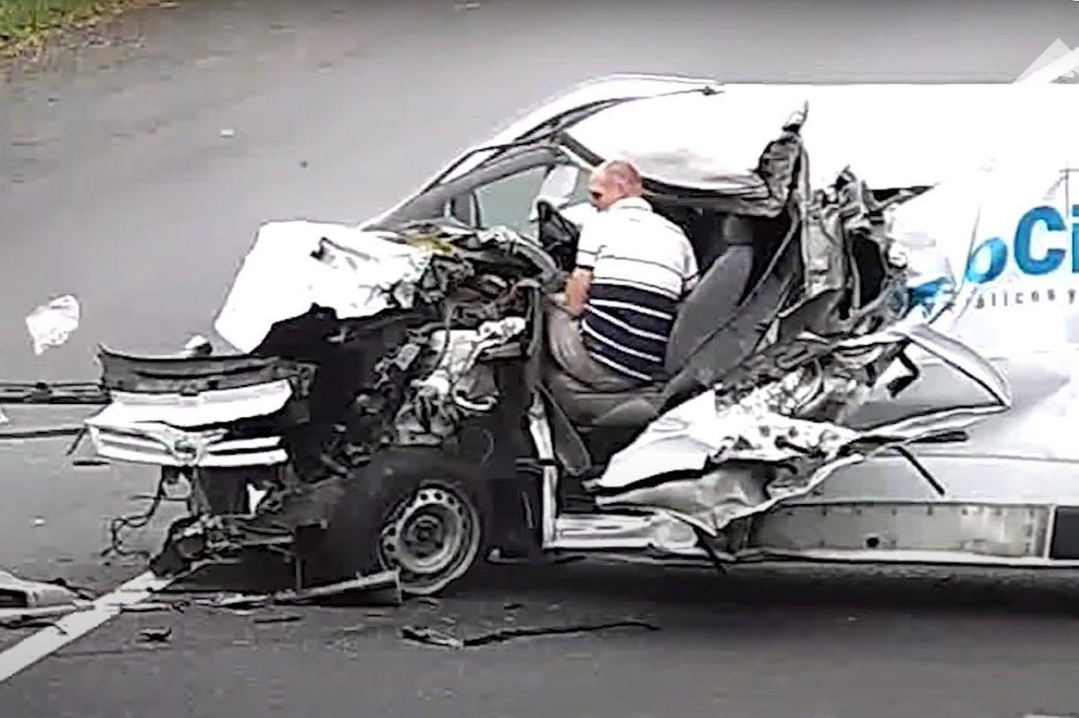 wrong way van crash