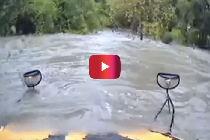 Dashcam Video Shows Texas School Bus Driving Straight into Low-Water Crossing
