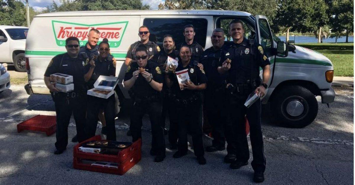 cops and krispy kreme