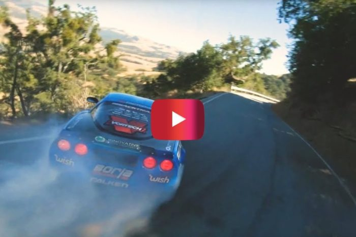 1,060-HP Corvette Drifts Mountain Course