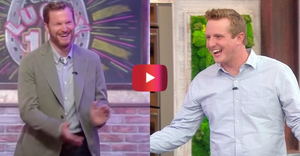 "Dale Jr. Surprises Diehard Fan on ""Rachael Ray Show"""