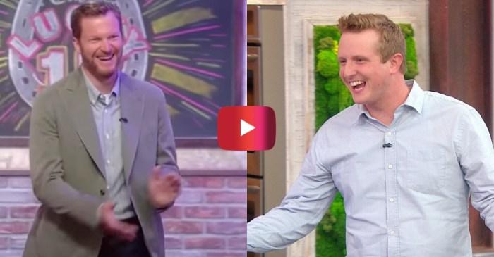 """Dale Jr. Surprises Diehard Fan on """"Rachael Ray Show"""""""