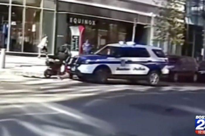 Shocking Dashcam Footage Shows Boston Police Cruiser Slamming into Moped Thief