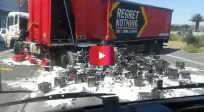 Beer truck fail