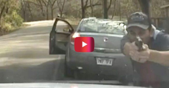 Shocking Dashcam Footage Shows Traffic-Stop Shootout in Arkansas
