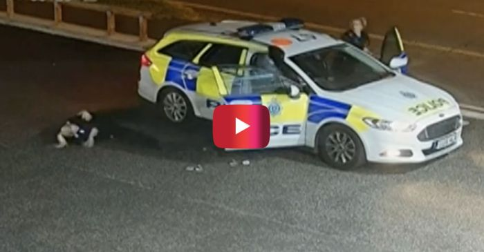 Watch the Intense Moment a Robber Tries Carjacking Police in the UK