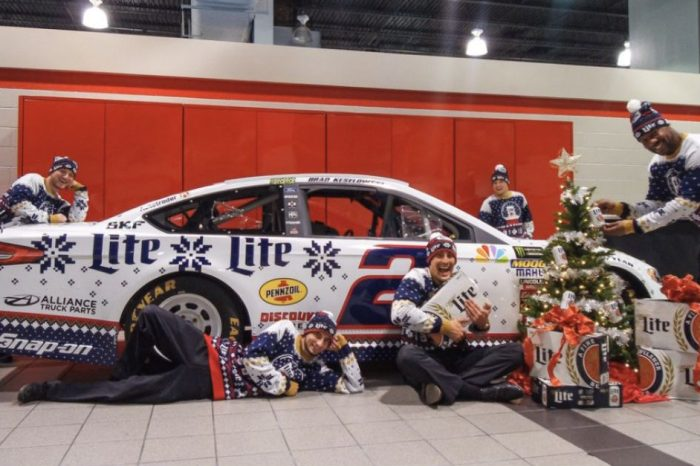 Brad Keselowski's Ugly Sweater Paint Scheme Will Seriously Get You in the Christmas Spirit