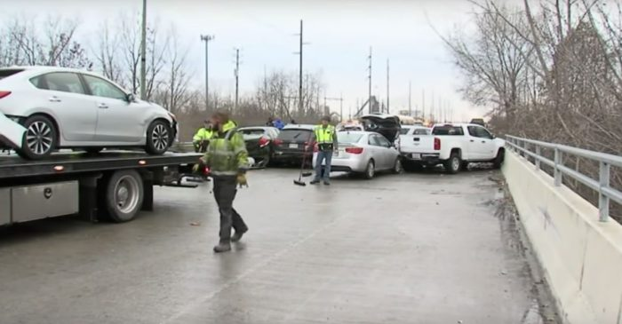 Black Ice Causes 30-Car Pileup in Indianapolis