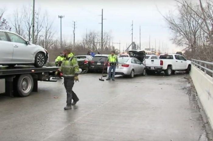 Black Ice Causes 30-Car Pileup in Indianapolis