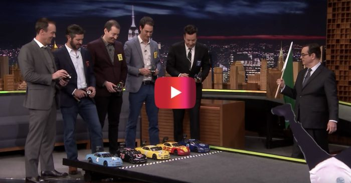 NASCAR Championship 4 Drivers Face-off in an RC Car Race on The Tonight Show