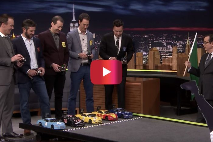 "NASCAR Drivers Clash in RC Car Race on ""Tonight Show"""