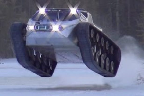 The Ripsaw Tank Has a 100 MPH Top Speed and Can Take on Any Terrain