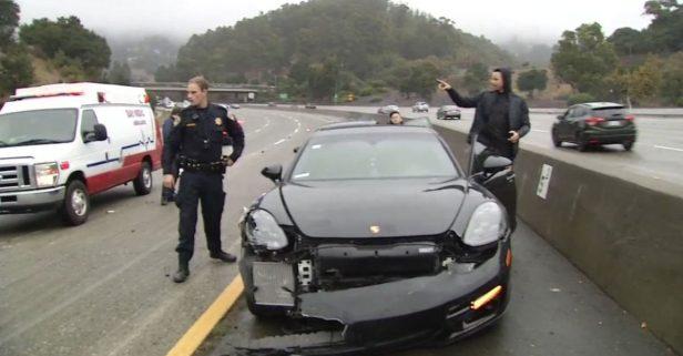 Dashcam Video Shows NBA Star Steph Curry's California Highway Crash