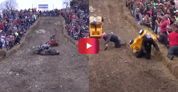 Wild Wipeouts Ensue at Barbie Jeep Racing Contest