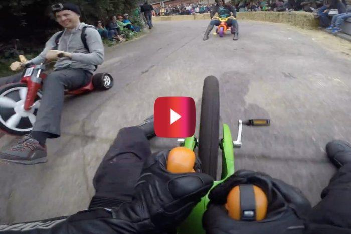 Big Wheel Downhill Racing Looks Like a Wild and Fun Time
