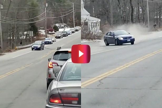 Speeding Fugitive Slams Into Car After Hitting Spike Strip