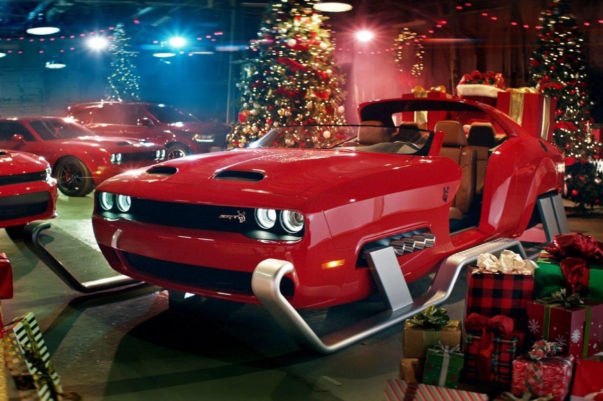 dodge challenger hellcat santa's sleigh