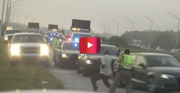 Shocking Footage Shows Car Smashing into Florida Trooper